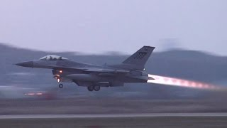 Download F-16 & A-10 Takeoff at Osan Air Base (2013) Video