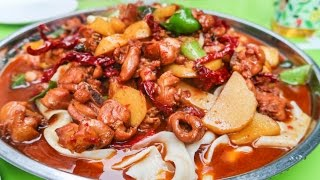 Download Halal Street Food Journey To Islamic China | Xinjiang HUGE CHICKEN PLATE on the Chinese Silk Road Video