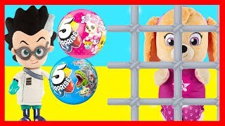 Download Zuru 5 Surprise Jail Challenge with Paw Patrol Skye and PJ Masks Romeo - Ellie Sparkles Video