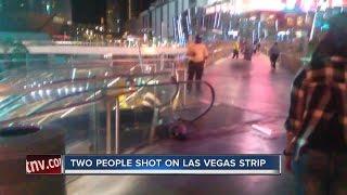 Download Shots fired on pedestrian bridge at the Las Vegas Strip Video