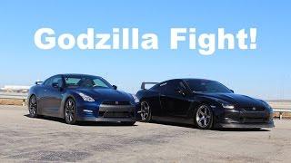 Download Godzilla Fight! 2009 vs 2015 GTR Comparison! Video