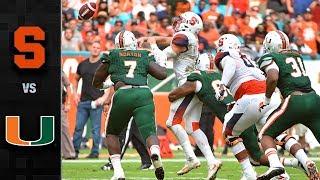 Download Syracuse vs. Miami Football Highlights (2017) Video