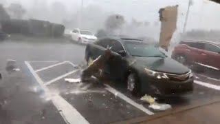 Download Cat 4 Hurricane Michael - Panama City, FL - Eyewall Footage Video
