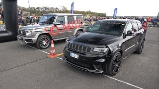 Download Mercedes-Benz G63 AMG vs Jeep Trackhawk Manhart GC800 Video