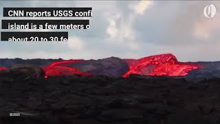 Download Hawaii lava creates new island Video