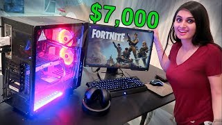 Download SISTER SURPRISED WITH $7,000 GAMING SET UP !!! Video