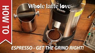Download How To: Basic Espresso Technique - Dialing in Grind Size Video