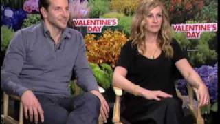 Download Julia Roberts and Bradley Cooper Valentine's Day interview Video