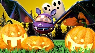 Download Baby Cars - HALLOWEEN SPECIAL - The Giant bat in the Forest - Car City ! Trucks Cartoon for kids Video