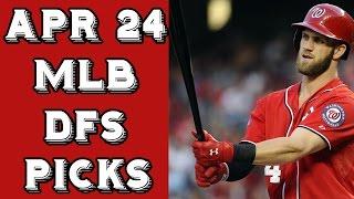 Download 4/24/17 MLB Daily Fantasy Slate Breakdown + Picks Video