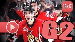 Download New York Rangers vs Ottawa Senators. 2017 NHL Playoffs. Round 2. Game 2. April 29th, 2017. (HD) Video