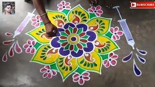 Download rangoli designs for happy holi special,alpona designs,muggulu designs,kolam designs,color alpona Video