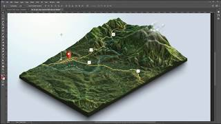 Download From Google Maps and heightmaps to 3D Terrain - 3D Map Generator Terrain - Photoshop Video