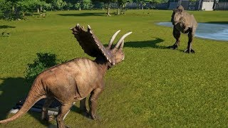 Download Pentaceratops(Modified) VS T-Rex, I-Rex, Suchomimus, Spinosaurus and Carnotaurus - JWE Video