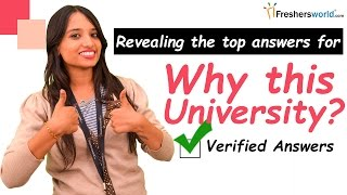 Download How to Answer Common Admission Interview Question - Why this university? II Interview tips Video
