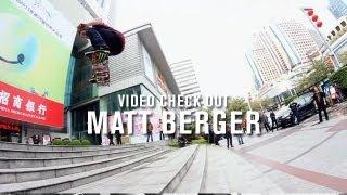 Download Video Check Out Matt Berger - TransWorld SKATEboarding Video