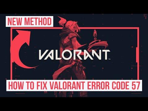 How to Fix Error code 57 in Valorant - New method