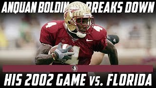 Download Former Florida State Star Anquan Boldin Breaks Down His Best Game Against Florida | Stadium Video
