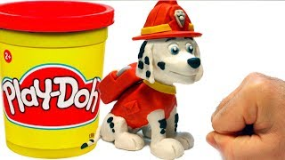 Download Marshall Paw Patrol stop motion 💕Superhero Play Doh cartoons Video