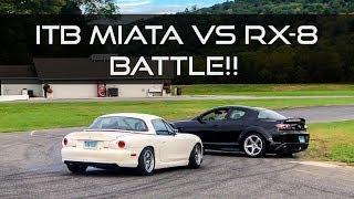 Download Tuned RX-8 vs ITB Miata Battle - The Slip Angle Video