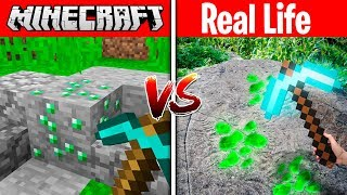 Download MINECRAFT EMERALD IN REAL LIFE! (MINECRAFT vs REAL LIFE) Video