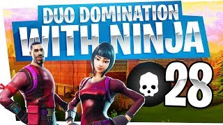 Download 28 Kill Duo Domination with Ninja - Fortnite Battle Royale Gameplay Video