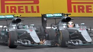 Download Rosberg And Hamilton Clash On Last Lap | Austrian Grand Prix 2016 Video