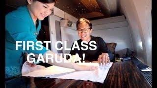 Download FIRST CLASS GARUDA INDONESIA JAKARTA-LONDON B777-300 REVIEW! Video