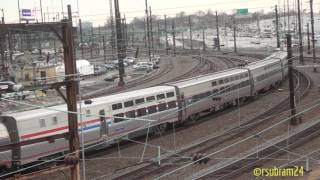 Download Amtrak trains entering & leaving Philadelphia station Video