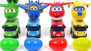 Download Present has arrived from Super Wings!! Baby Tayo with surprise eggs!! - DuDuPopTOY Video