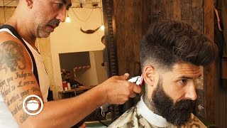 Download Natural Pompadour with Skin Fade Hair Cut | Carlos Costa Video