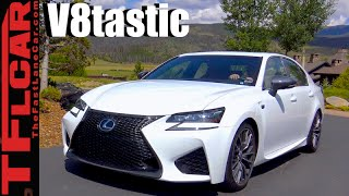 Download 2017 Lexus GS F First Drive Review: Old School V8 Shake & Bake Video