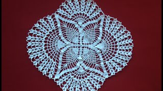 Download Crochet Oval Pineapple Lace Doily Part 1 Video