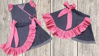 Download Simple and Easy Baby dress making at home full tutorial // Umbrella cut new design baby skirt Video
