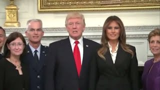 Download President Trump's mysterious ″calm before the storm″ comments Video