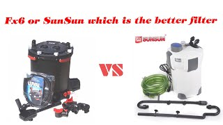 Download What Is The Best Canister Filter For My Aquarium | Fluval Fx6 vs SunSun 404B Video