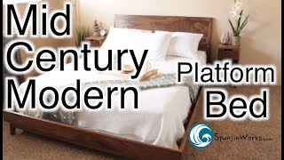 Download Modern Walnut Platform Bed // (Ep. 68) Video