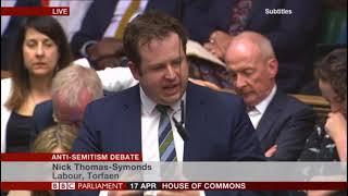 Download John Mann anti-Semitism speech Video