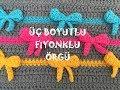 Download Tığ İle Üç Boyutlu Fiyonklu Örgü Battaniye Modeli ( 3D Bow Crochet Stitch) Video