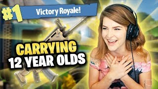 Download GETTING MY 12 YEAR OLD TEAMMATES THEIR FIRST WIN! (Fortnite: Battle Royale) | KittyPlays Video