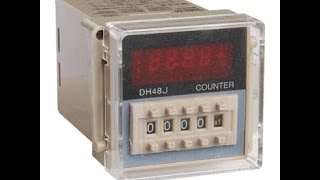 Download Digital Counter Relay DH48J NPN Proximity sensor Video