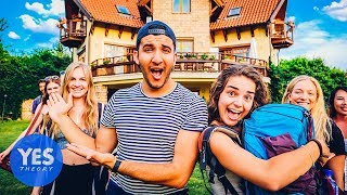 Download 16 STRANGERS IN A MANSION OVERNIGHT!! Video
