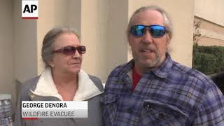 Download Wildfire evacuees mixed on upcoming Trump visit Video