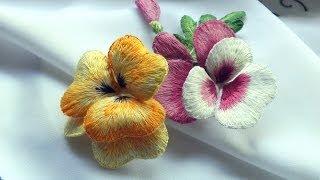 Download ОБЪЕМНАЯ ВЫШИВКА : цветы ВИОЛА \ STUMPWORK : flowers Viola Video