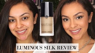 Download Giorgio Armani Luminous Silk Foundation First Impression Review - TrinaDuhra Video