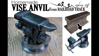Download DIY VISE ANVIL from Railroad track - Blacksmith beginner Video
