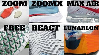 Download Nike Cushion Technologies Compared! AIR VS ZOOM VS LUNARLON VS FREE VS REACT VS ZOOMX Video