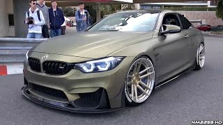 Download Stanced BMW M4 F82 with LOUD Fi-Exhaust Making Some Noise in Monaco! Video