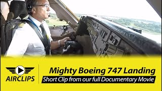 Download MUST SEE! Full Boeing 747 calmly landed by Captain Victoriano on short Runway! MULTICAM! [AirClips] Video