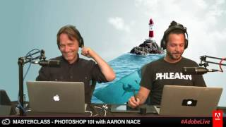 Download Live Masterclass with Aaron Nace - Photoshop 101 1/3 Video